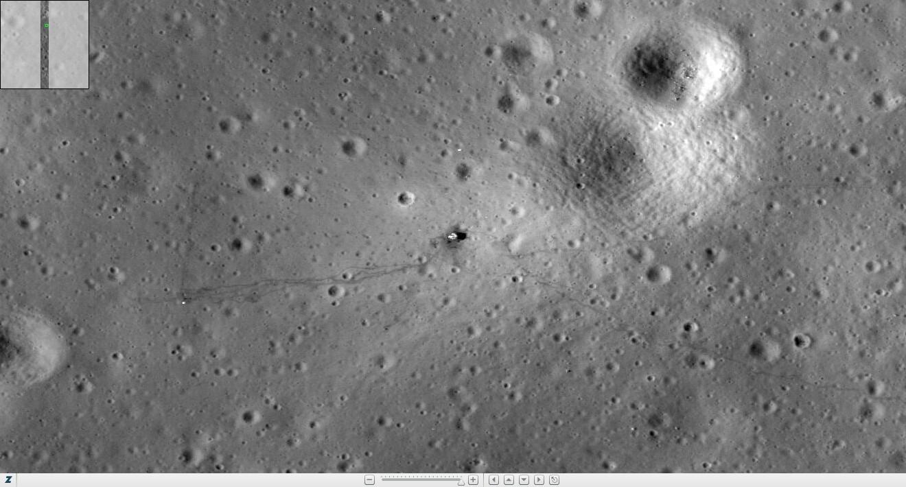 apollo tracks on moon - photo #12