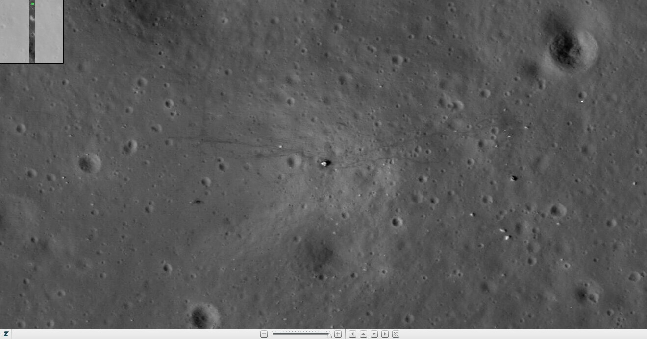 apollo tracks on moon - photo #17